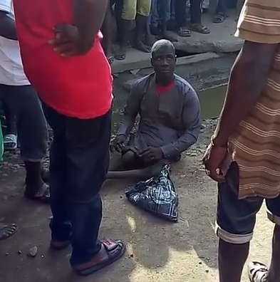 ''He did this to a guy who gave him #1,000 only for the man to walk away from him and feel his Manhood disappear'' Says an eye witness of a begging stuation