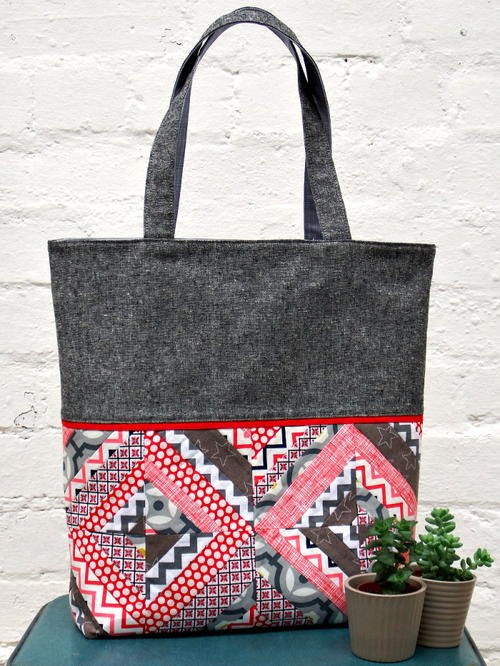 String Patchwork Tote