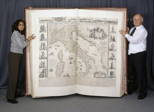 "Timelapse Film Shows How the British Library Digitized the World's Largest Atlas, the 6-Foot Tall ""Klencke Atlas"" from 1660"