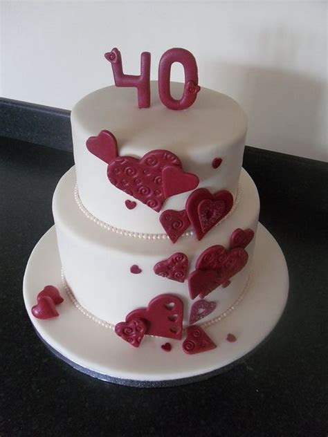 1000  ideas about 40th Anniversary Cakes on Pinterest