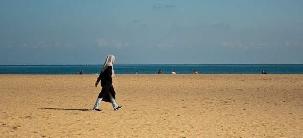 Una playa de Tánger, Marruecos.