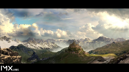 Animated matte painting