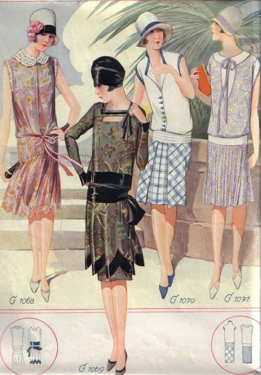 1920s Fashion – dresses, hats and hair