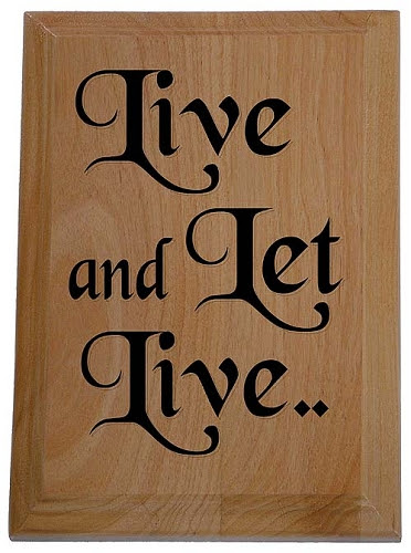 Live And Let Live Definitely Want This As A Tattoo After My Goat