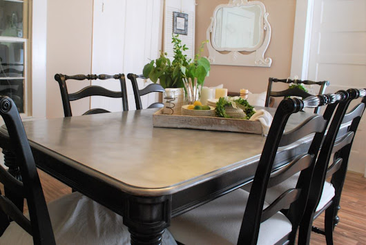DIY Galvanized Looking Table Top and Chair Makeover! - County Road 407