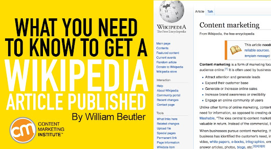 Wikipedia Article: How to Get It Published