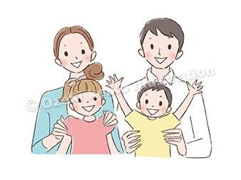 家族イラスト イラストレーター小関恵子の仕事帖関西在住 大阪京都