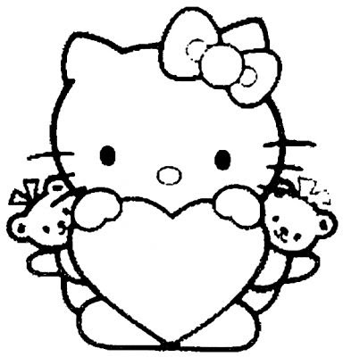 Coloriages Hello Kitty Page 1 Hello Kitty