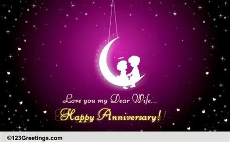 Happy Anniversary My Dear Wife! Free For Her eCards