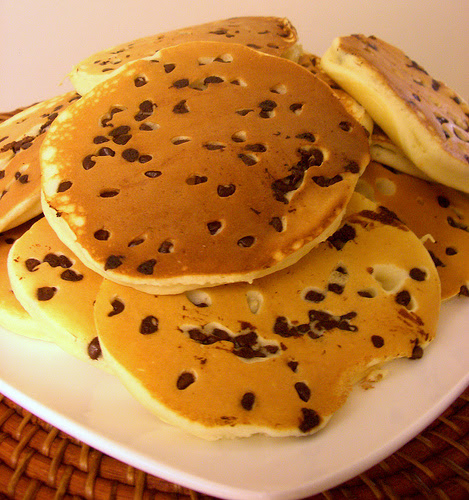 The BEST Chocolate Chip Pancakes (& So Fluffy)