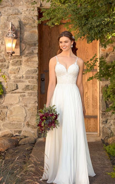 Casual Beach Wedding Dress   Essense of Australia Wedding