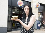 In bad taste: The idea of a microwaved burger did not appeal to Miss Chamberlain, but when she complained by email, she received a rather rude reply