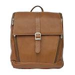 Piel Leather 2480 Slim Computer Backpack - Saddle
