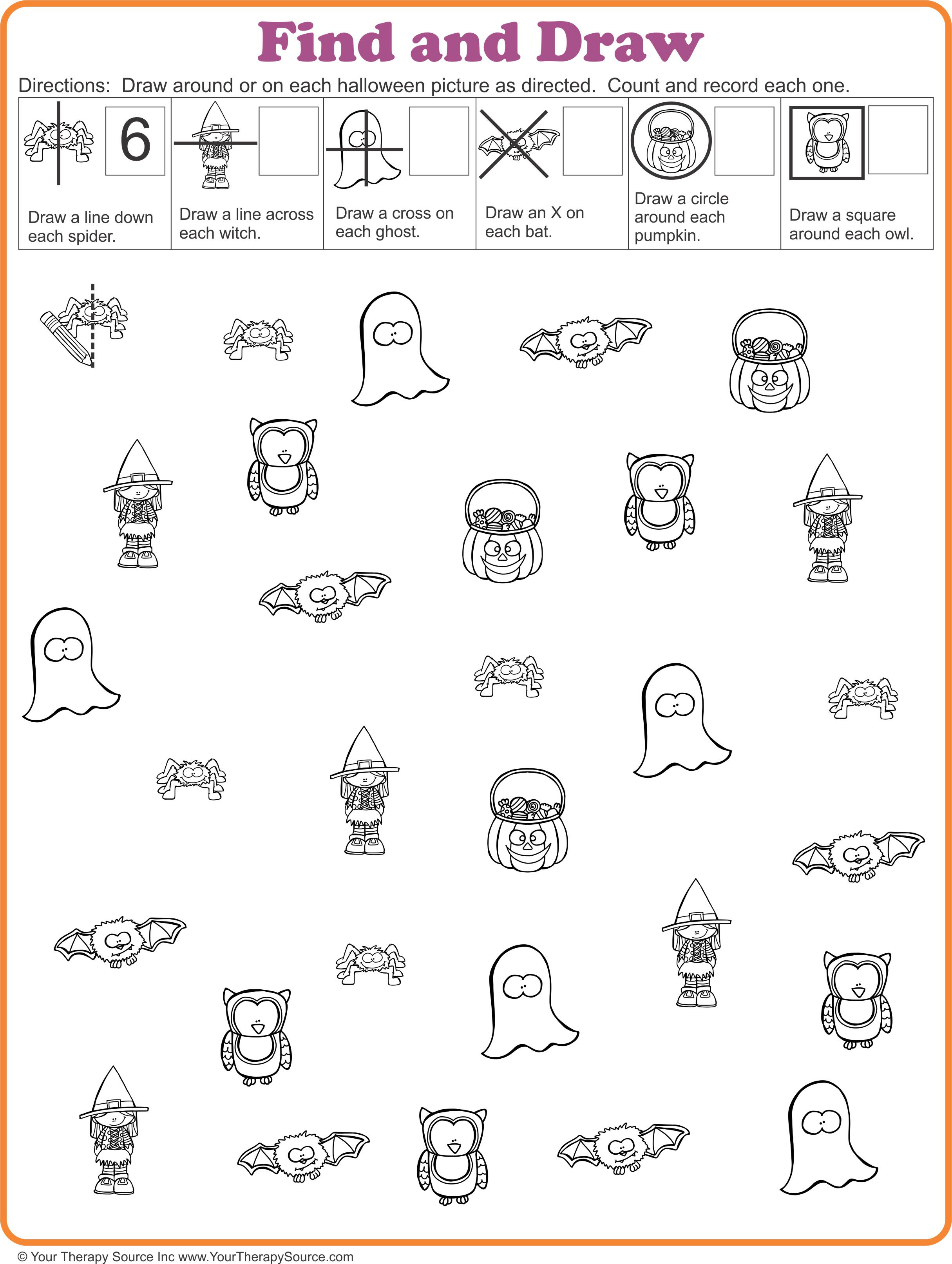 16 FREE Halloween Printables Sensory Motor Skills Your
