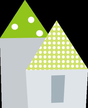 ポップな家のイラスト無料イラストフリー素材