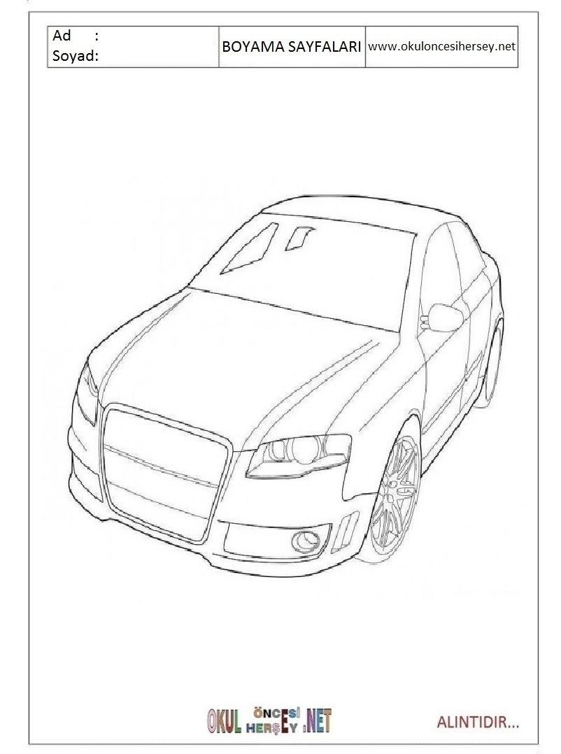 Audi Boyama Sayfaları