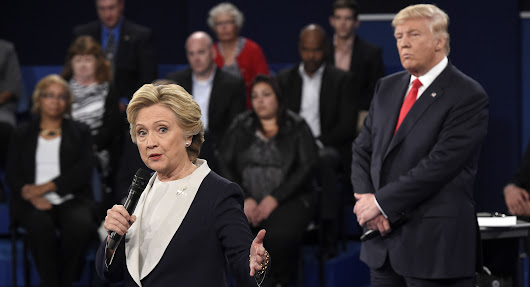 Clinton's 'skin crawled' from Trump's looming behavior at debate - POLITICO
