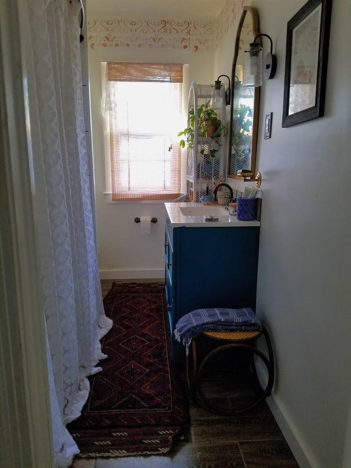 Vintage Bohemian Bathroom Remodel