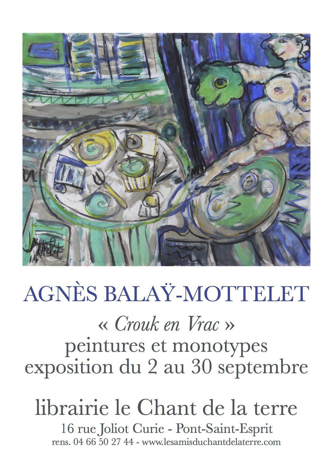 Septembre : Exposition Agnès Balaÿ-Mottelet