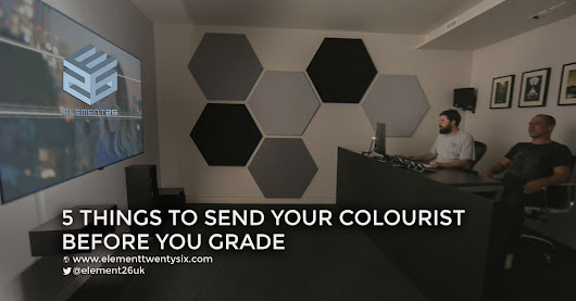 5 Things to Send Your Colourist Before You Grade - Element Twenty Six