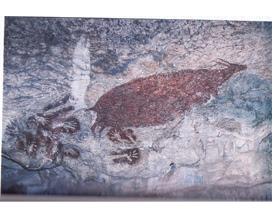 Lukisan anoa, binatang khas Sulawesi Selatan