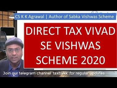 The Direct tax Vivad se Vishwas Bill 2020 discussed by Author of Sabka V...