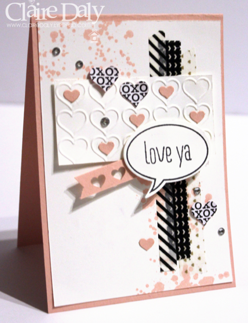 Stampin' Up! Australia: Claire Daly Independent Demonstrator Melbourne: Stampin' Up! Stacked with Love Valentines Card for SB87