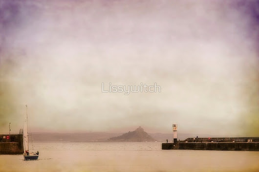 """Penzance harbour in pastel"" by Lissywitch 