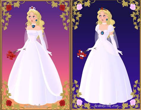 Princess Peach's wedding dresses by BlazingTyphlosion on