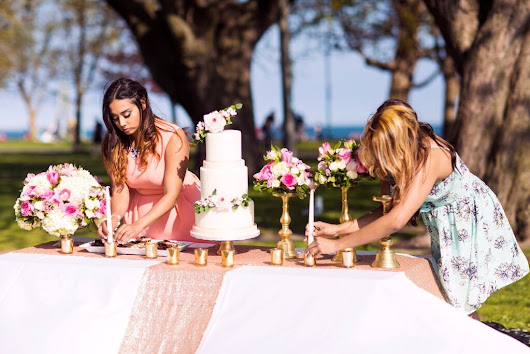 |   Rose and Gold Styled Wedding Shoot