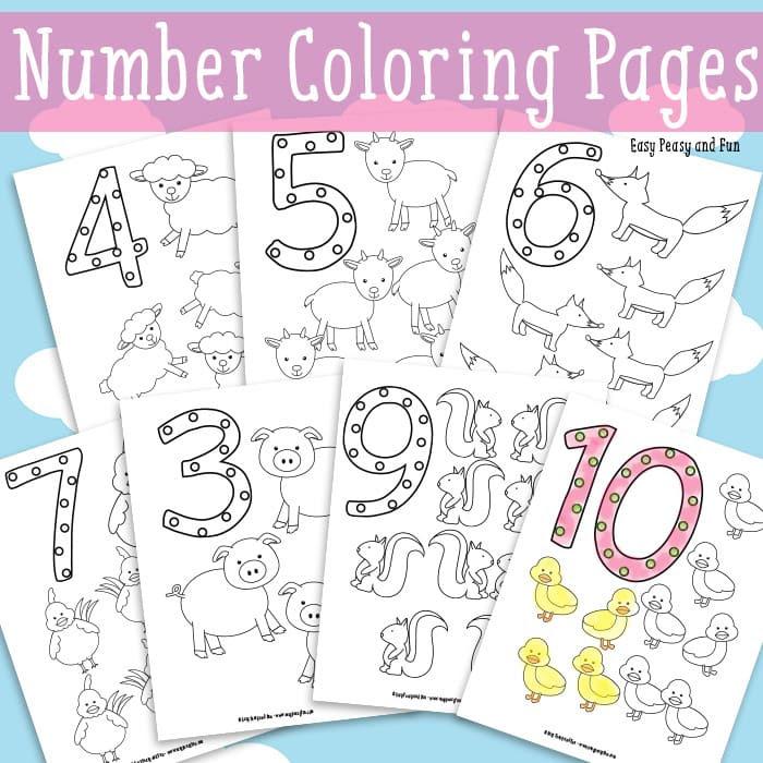 Número colorear gratis para imprimir