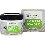 Redmond Trading Earthpowder Amazingly Natural Toothpowder in Jar Unsweetened Spearmint 1.8 oz.