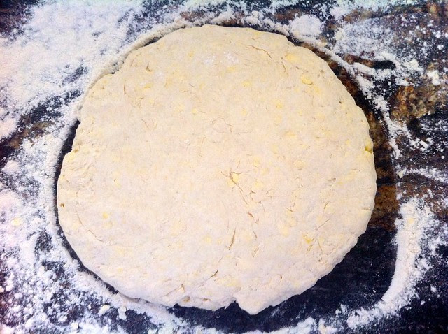 Biscuit Dough Flattened