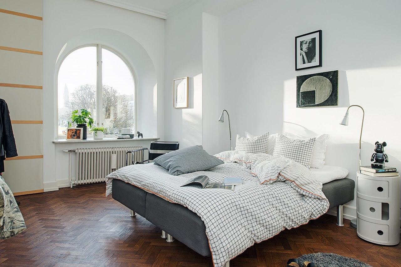 Bedroom design in Scandinavian style preserve maximum sunlight