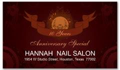 CPS-1070 - salon coupon card