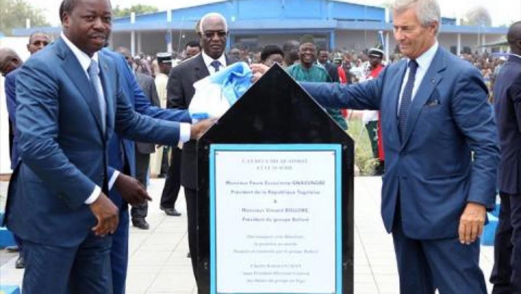 Le président togolais Faure Gnassingbé et Vincent Bolloré  inaugurent la première Blue 2Zone à Lomé. et le trafic de bois précieux africains