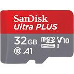 SanDisk Ultra Plus SDSQUSC-032G-AN6TN 32 GB microSDHC Class 10 Memory Card