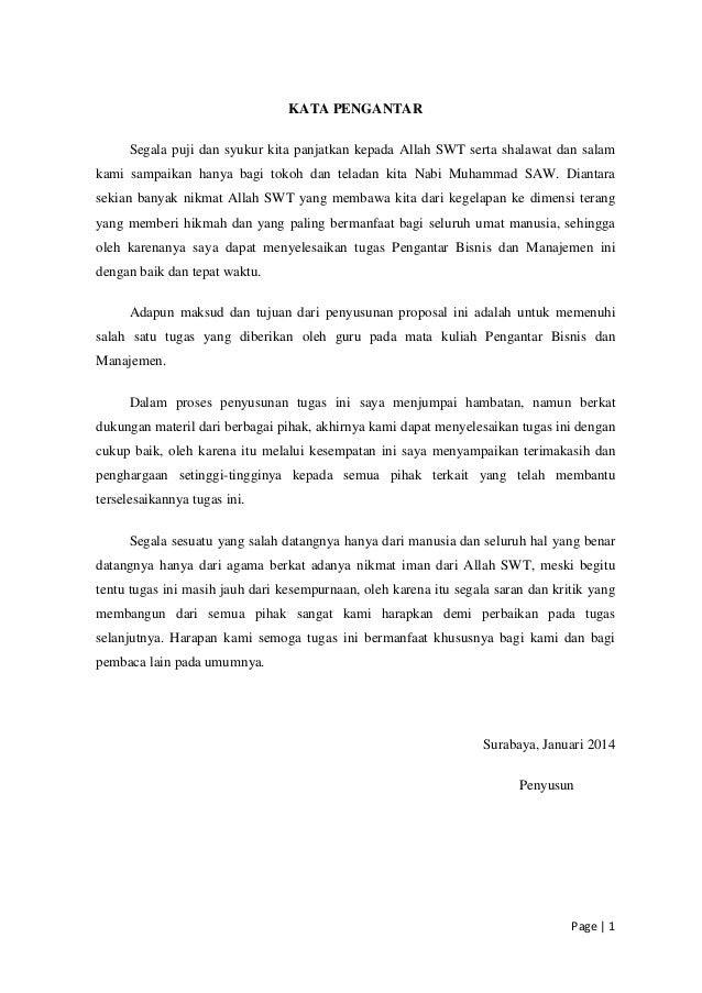 Contoh Proposal Rencana Bisnis Frasmi