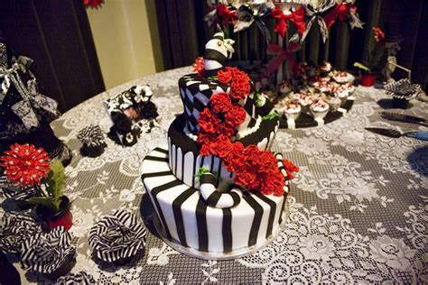 Sarah & Troy's Beetlejuice themed, epic FX movie wedding