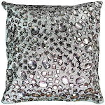 "Rizzy Home T05936 Decorative Pillow, 12""x12"", Metallic/gray/purple"