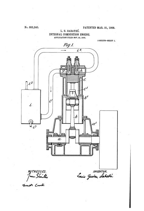 Patent US883240 - Internal-combustion engine. - Google Patents