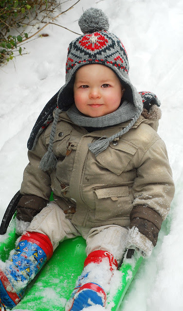 dylbee in the snow!