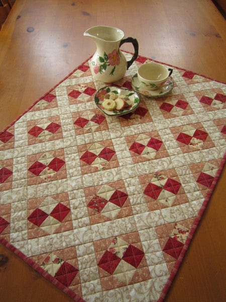 Quilted Table Topper, Handmade Table Decor