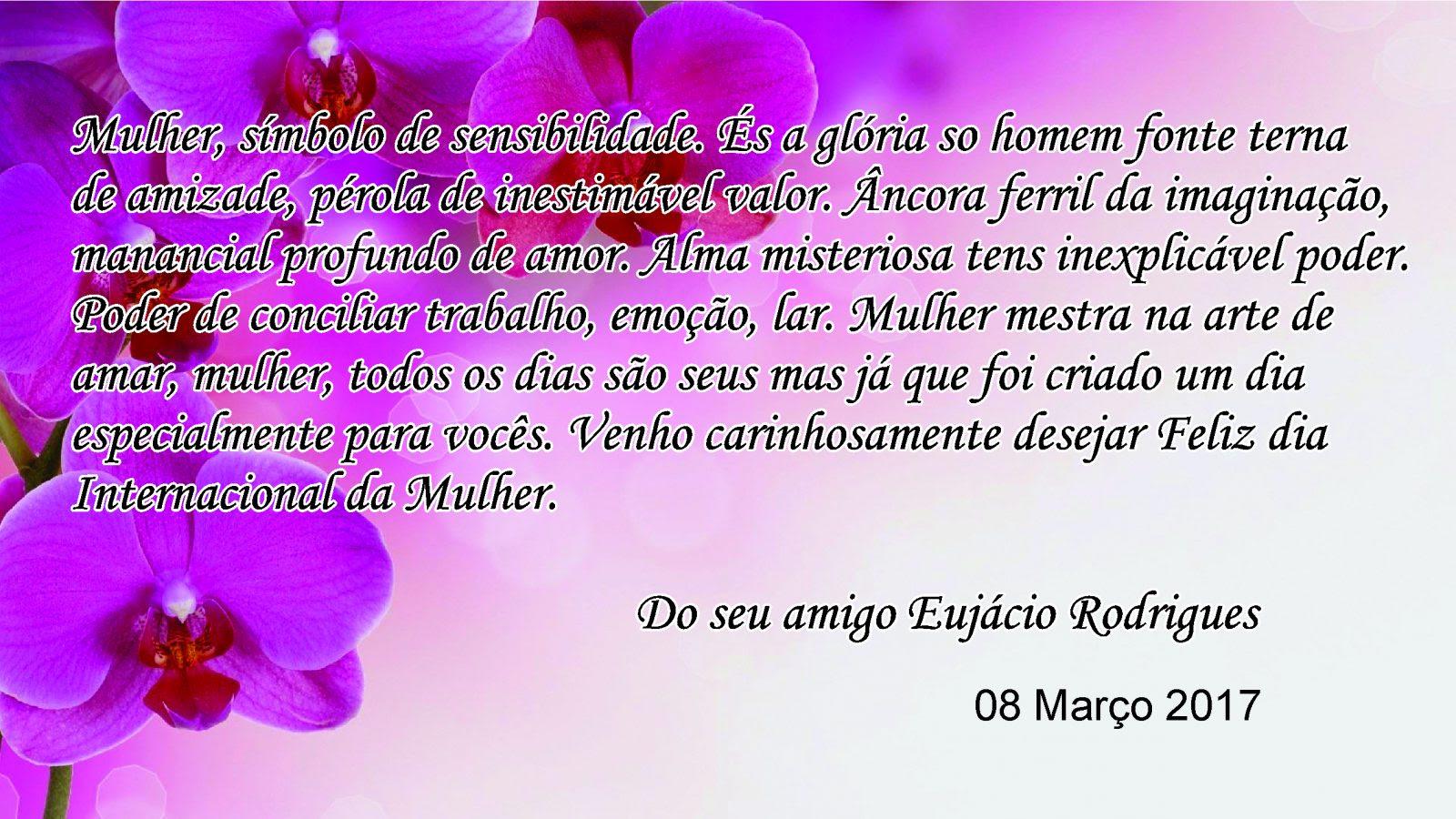 O Prefeito Eujacio Rodrigues Presta Homenagem Ao Dia Internacional
