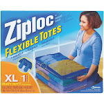 Ziploc Flexible XL 10 Gallon Heavy Duty Clothes Storage Bag Tote 71597