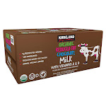 Kirkland Signature Organic Reduced Fat Chocolate Milk, 8.25 fl oz, 24-count