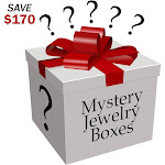 Evelots Jewelry Mystery Surprise Box, 12 Piece Set - Save 170 Dollars