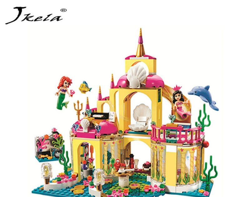 Skup Princess Undersea Palace Girl Friends Building Blocks 402pcs