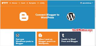 Post New Blogger Post to Wordpress IFTTT