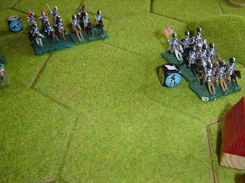 English cavalry advance behind Papelotte